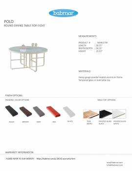 Polo Round Dining Table for 8 - Image 2