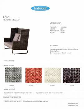 Polo Highback Loveseat - Image 2