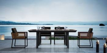 Individual Pieces - Dining Tables - Babmar - AVANT DINING TABLE FOR 6