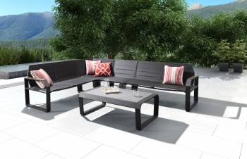 Shop By Category - Outdoor Seating Sets - Babmar - Alpha Sectional Set