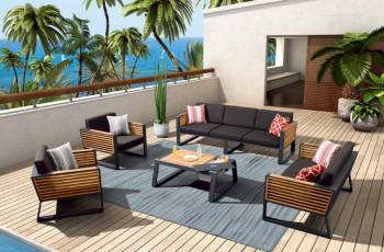 Shop By Category - Outdoor Seating Sets - Babmar -  AVANT SOFA SET WITH LOVESEAT