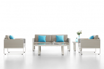 Babmar - Chrome Sofa Set - Image 4
