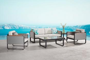 Babmar - Chrome Sofa Set - Image 3