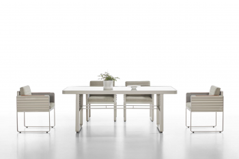 Shop By Collection - Chrome Collection - Babmar - Chrome Dining Set For 6