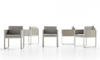 Shop By Collection - Chrome Collection - Babmar - Chrome Dining Chair