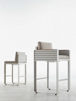 Babmar - Chrome Bar Stool With Arms