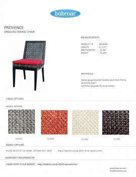 Provence Armless Dining Chair - Image 3