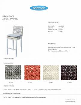 Provence Bar Set for 4 with Armless Chairs - Image 3