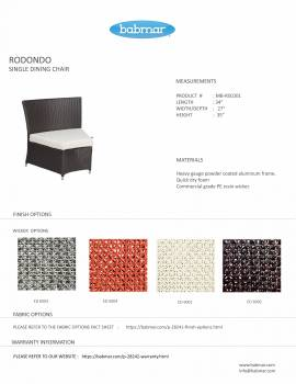 Rodondo Seating Set For Six - Image 6