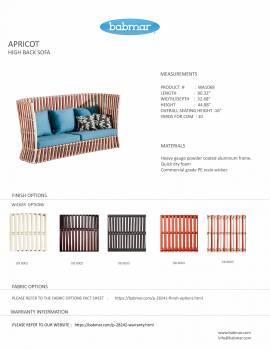Apricot High Back Sofa - Image 3