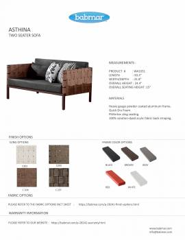 Asthina 2 Seater Sofa with Side Table - Image 3