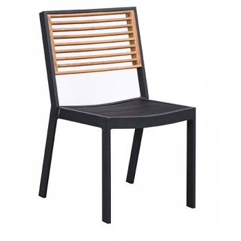 Babmar - Avant Dining Set For 4 (Stackable Chairs/Table With Teak Top/ Umbrella Hole) - Image 4