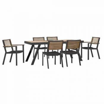 Shop By Collection - Avant Collection - Babmar - Avant Dining Set For 6 (Stackable Chairs)