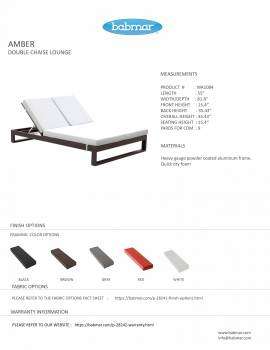Babmar - Amber Double Chaise Lounge - Image 2