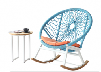 Babmar - Seattle Round Rocking Club Chair - QUICK SHIP