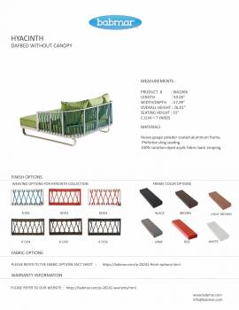 Hyacinth Outdoor Daybed - Image 3