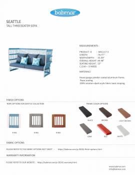 Babmar - Seattle High Back Sofa Set - Image 8