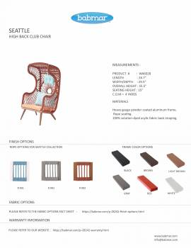 Babmar - Seattle High Back Chair - Image 2