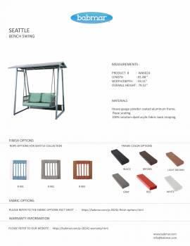 Babmar - Seattle Bench Swing - Image 3