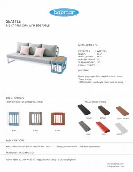 Seattle Right Arm Sofa With Built-In Side Table - Image 2