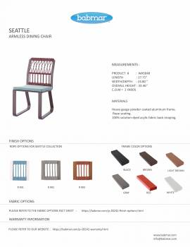 Seattle Armless Dining Chair - Image 2