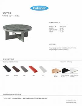 Seattle Round Coffee Table - Image 2