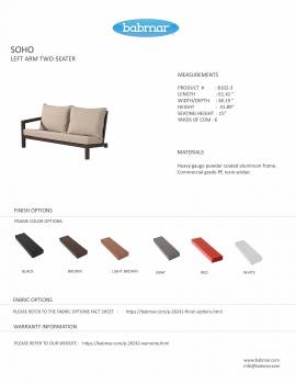 Soho Sectional Sofa Set for 6 with 2 Club Chairs - Image 4