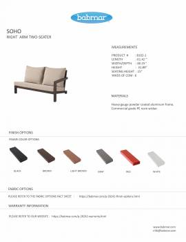Soho Sectional Sofa Set for 6 with 2 Club Chairs - Image 5