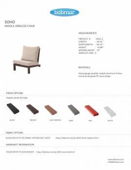 Soho Middle Armless Sofa - Image 2
