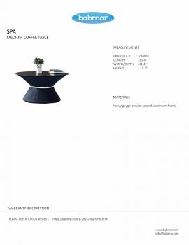 Spa Medium Coffee Table by Pininfarina - Image 3