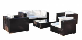 Babmar - Swing 46 Modular Sectional Sofa Set for 5 with 2 club chairs