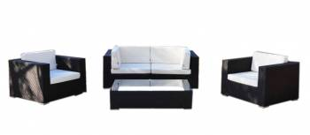 Shop By Category - Outdoor Seating Sets - Babmar - Swing 46 Modular Loveseat Set with 2 club chairs