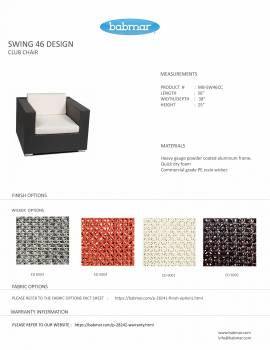 Babmar - Swing 46 Club Chair Set for 4 - Image 4