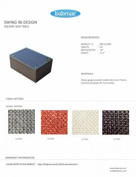 Babmar - Palo Side Table (Swing 46 Design) - Image 6