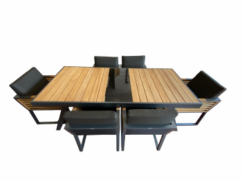 Shop By Collection - Avant Collection - Babmar - Avant Dining Set For 6 ALL WITH ARMS