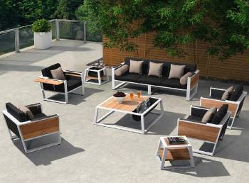 Shop By Category - Outdoor Seating Sets - Babmar - Mykonos XL Sofa Set