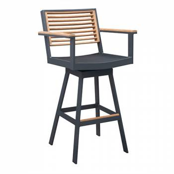 Shop By Collection - Avant Collection - Babmar - Avant Counter Height Swivel Bar Stool With Arms - QUICK SHIP