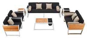 Shop By Category - Outdoor Seating Sets - Babmar - Mykonos Sofa Set With Loveseat