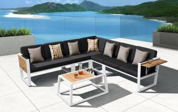 Shop By Category - Outdoor Seating Sets - Babmar - Mykonos L Shape Sofa Set - QUICK SHIP