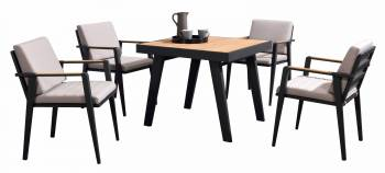 Shop By Category - Babmar - Onyx Dining Set For 4