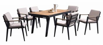 Shop By Category - Babmar - Onyx Dining Set For 6