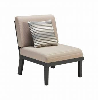 Individual Pieces - Babmar - Onyx Middle Armless Chair