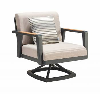 Shop By Category - Outdoor Seating Sets - Babmar - Onyx Swivel Club Chair
