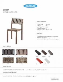 Amber Armless Dining Chair - Quick Ship - Image 3