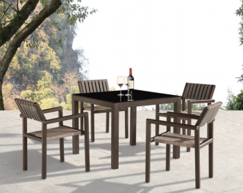 Shop By Category - Outdoor Dining Sets - Amber Dining Set For 4 with Arms