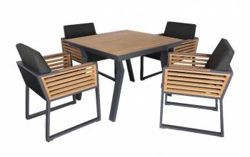Shop By Collection - Avant Collection - Babmar - AVANT DINING SET FOR 4