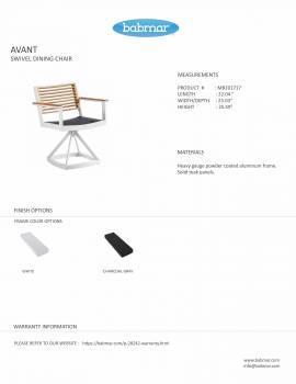 Babmar - Avant Swivel Chair Set For 2 -QUICK SHIP - Image 3