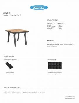 Babmar - AVANT DINING TABLE FOR 4 - Image 2