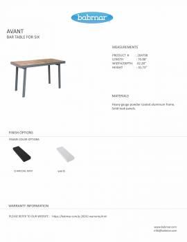Babmar - Avant Bar Table For 6 - Image 2