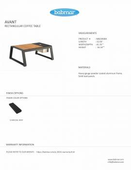 Babmar - AVANT RECTANGULAR COFFEE TABLE -QUICK SHIP - Image 2
